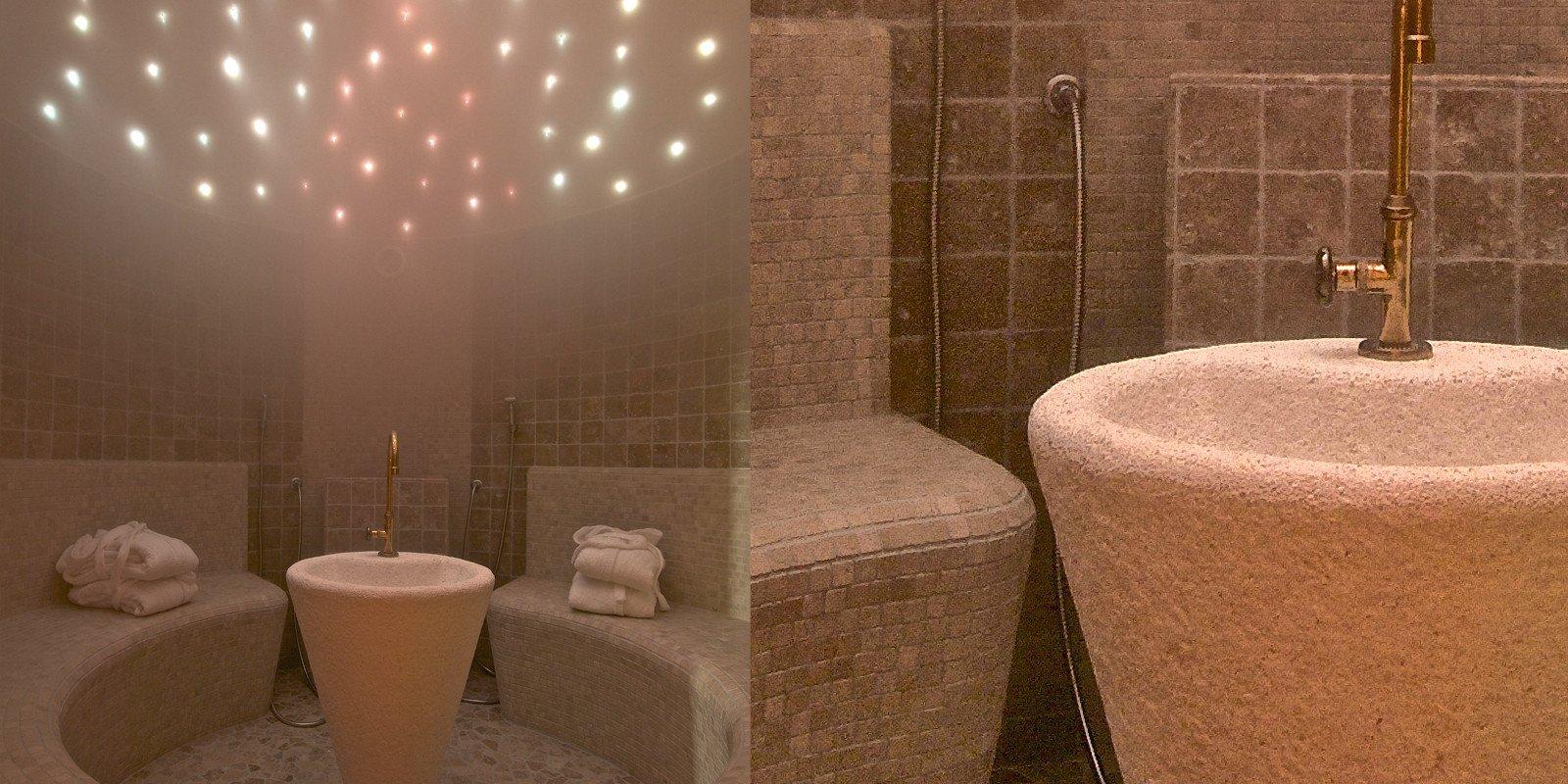 Progetta il tuo bagno turco aromatico wellness creation - Il bagno turco dipinto ...
